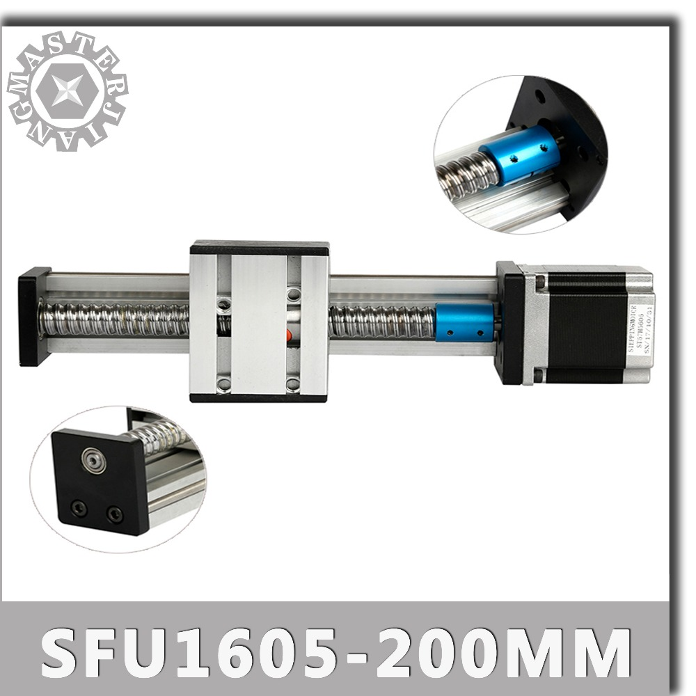 Stage C SFU1605 200mm Linear Guide Rails Linear Actuator System Module Table 200mm Travel Length 200MM