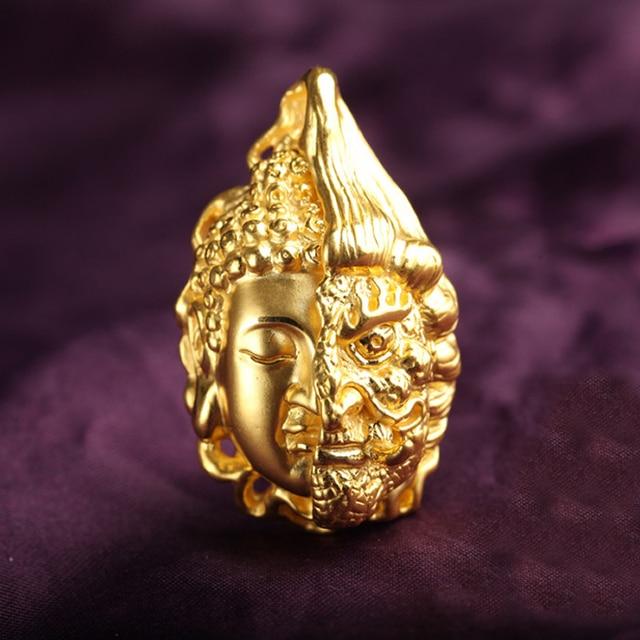 Authentic 999 24K Yellow Gold Buddha Head Pendant 12g