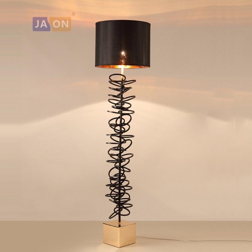 led e27 Nordic Iron Fabric Black White Designer LED Lamp LED Light LED Floor Lamp Floor Light For Foyer Dinning Room Bedroom цена 2017
