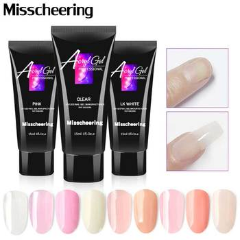 15ML Crystal Extend UV Nail Gel Extension Builder Led Art Lacquer Jelly Acrylic 9 Colors