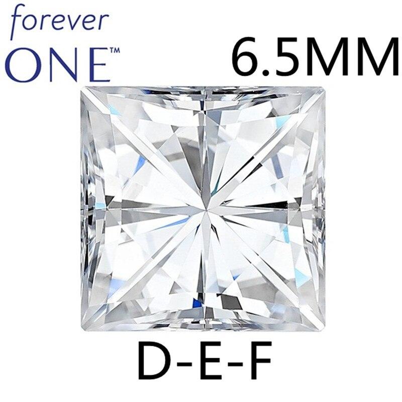 Certifié 1.5CT VS DEF Couleur Carrés Brilliant Cut Charles Colvard Pour Toujours Un Lâche Moissanite Diamant Gems Pierres Pour Les Bijoux