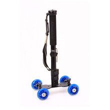 Kingjoy Versatile Digicam Slider 4-wheel Dolly Observe Automotive VX-103 with Excessive Power Flip Lock Monopod MP208F for Pictures
