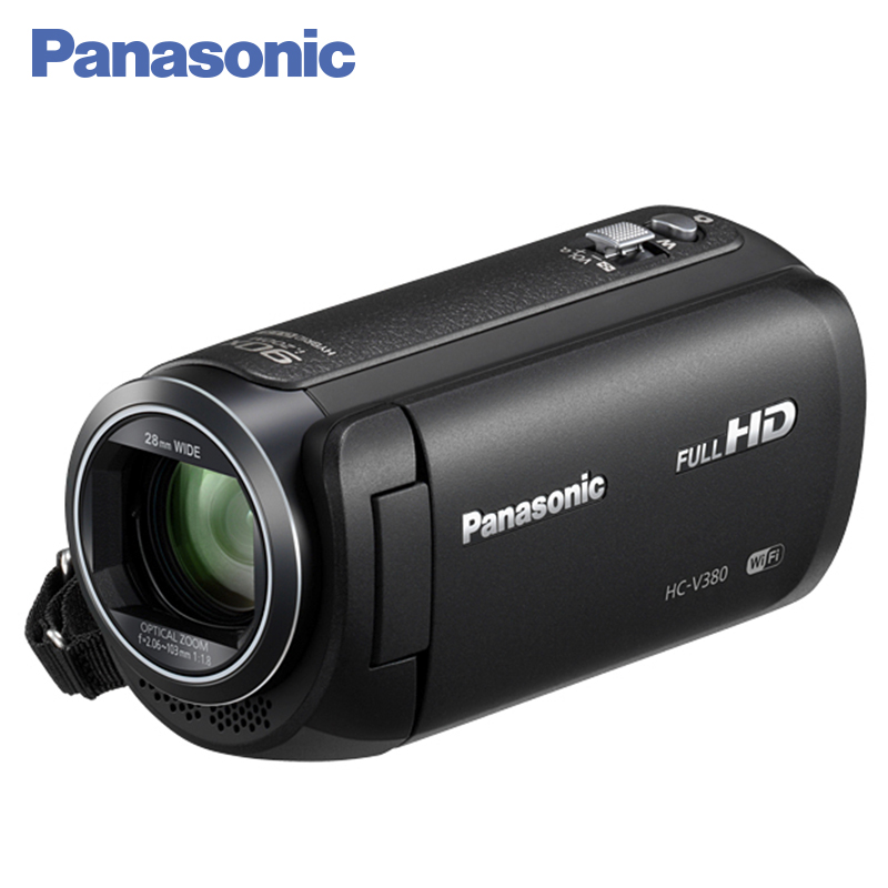 Panasonic HC-V380EE-K Digital camcorder Wireless multicamera Smart zoom Absolute sharpness Wi-Fi 5mp cmos digital video camcorder w 4x digital zoom hdmi sd 3 5 lcd