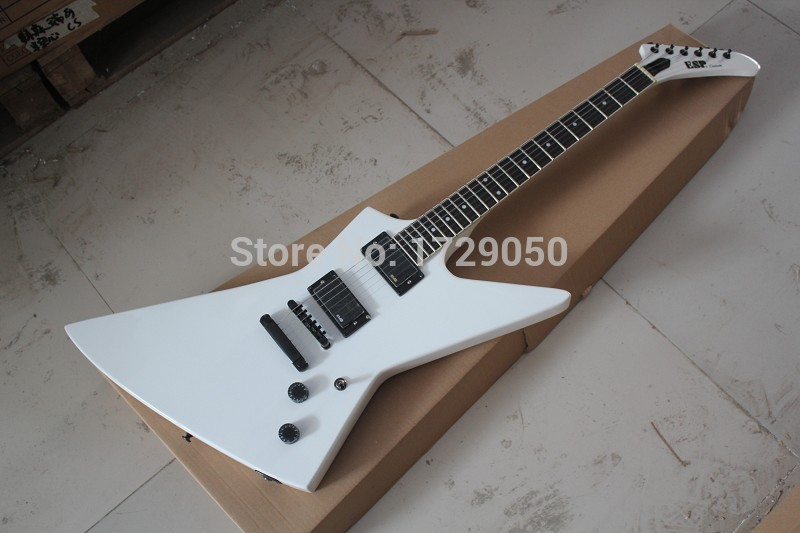 Chinese musical Instruments Factory custom 2017 New Arrival E SP Custom Explorer White Electric Guitar EMG Pickup In Stock 218