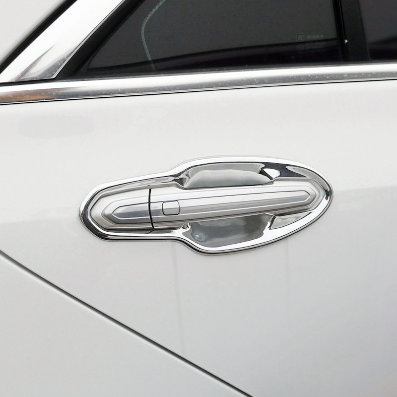 For Cadillac XT5 2017 2018 2019 ABS Chromed Accessories Exterior Outer Side CAR Door Handle Bowl Cover 8PCS