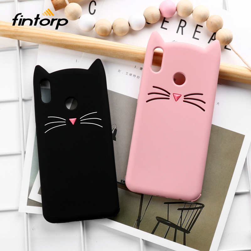 Fintorp Cute Cat Ear Silicone Case For Huawei Honor 8X Cases Soft TPU Protective Cover For Honor 9 10 Lite V20 7A 7C Pro Cases