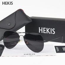 HEKIS Sunglasses Men Sun Glasses Male Oversized Glasses For Driving Shades Oculos De Sol Masculino With Box B2701
