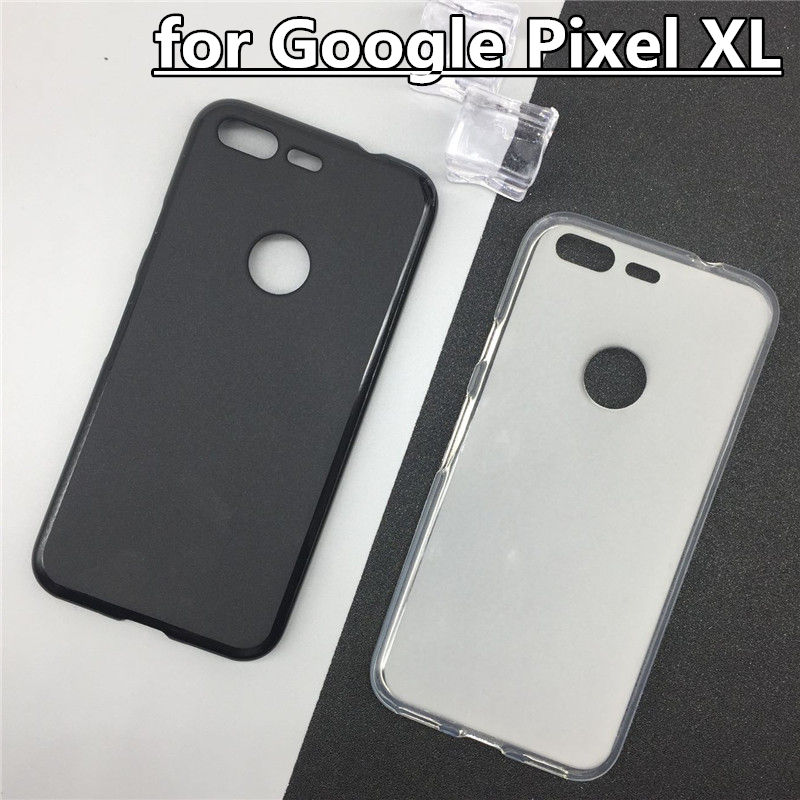 Official Original Silicone Full Funda Case For Google Pixel XL Phone Back Cover Pudding Cases Para Black White Shell Bag