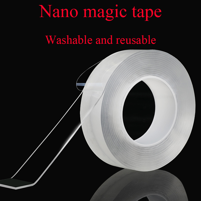 30mm Width Double-sided Nano-free Magic Tape Transparent Wash Adhesive Tape