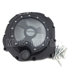 Motorcycle Right Engine Clutch cover see through For Kawasaki ZX14R ZZR1400 2006 2007 2008 2009 2010 2011 2012 2013 Black for motorcycle kawasaki zx14r zzr1400 2006 2013 black right engine clutch cover see through