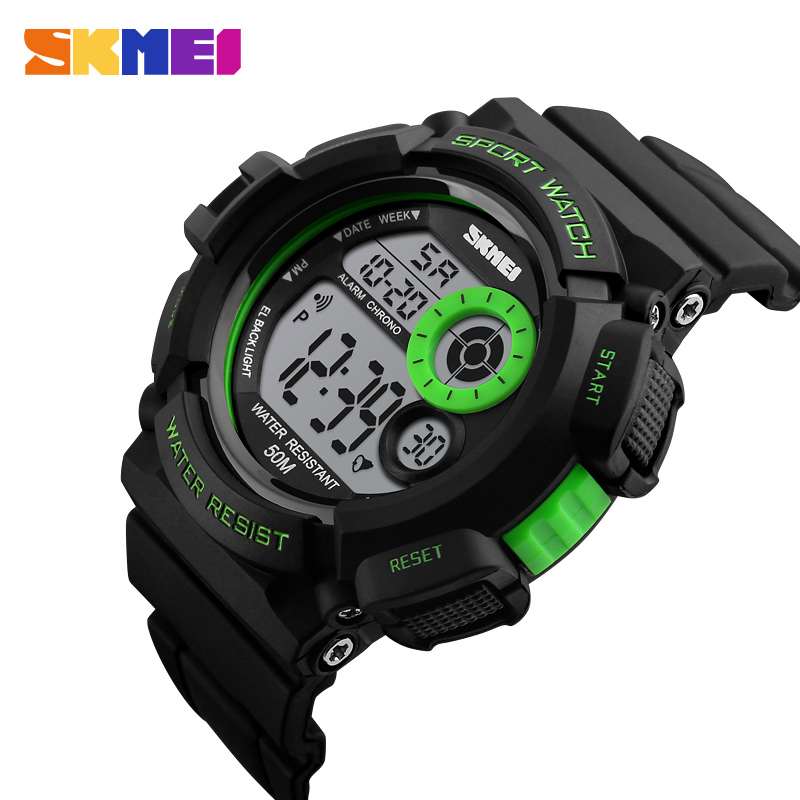 Skmei Brand New 2018 Men Sports Watches Casual LED Digital Military Shock Wristwatches 50M Waterproof Student Outdoor Clock