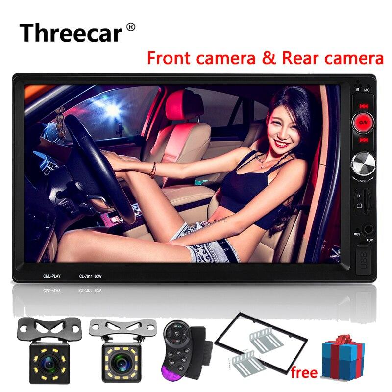 Mais novo 7 LCD Mp5 2 Din Carro Autoradio Player Com Espelhamento Android Bluetooth Multimídia Carro Rádio FM Estéreo USB rádio Do Carro de áudio