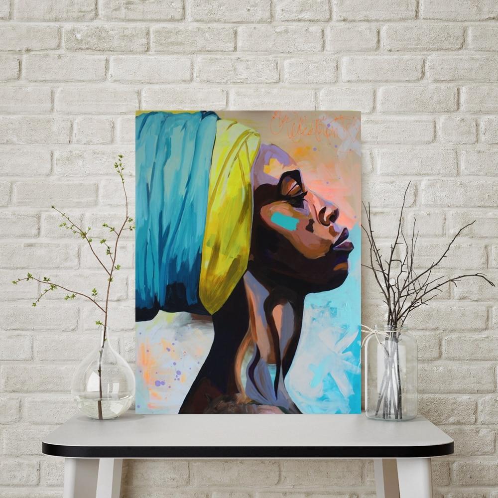 Contemplator African American Portrait Wall Art Canvas
