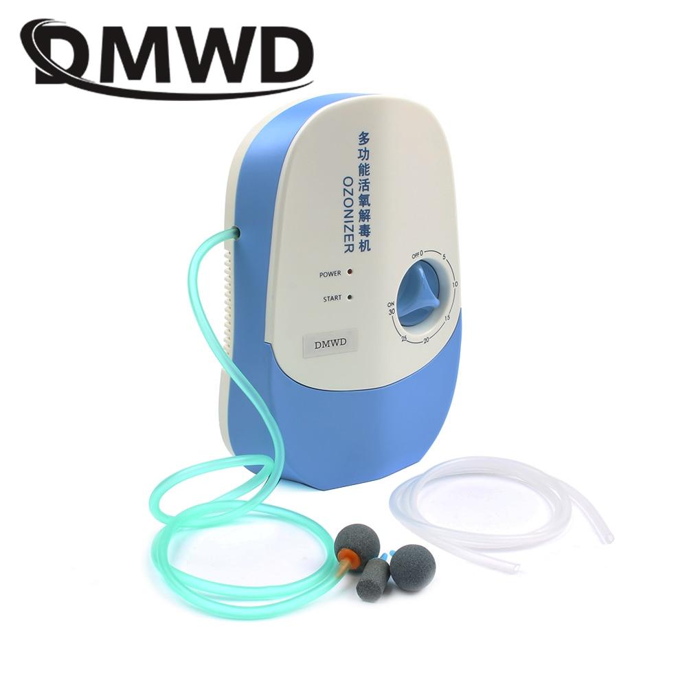 DMWD Ozone Generator Deodorizer Air Purifier Water Food Sterilizer Vegetable Fruit Washer Oxygen Concentrator Ozonator Ionizator