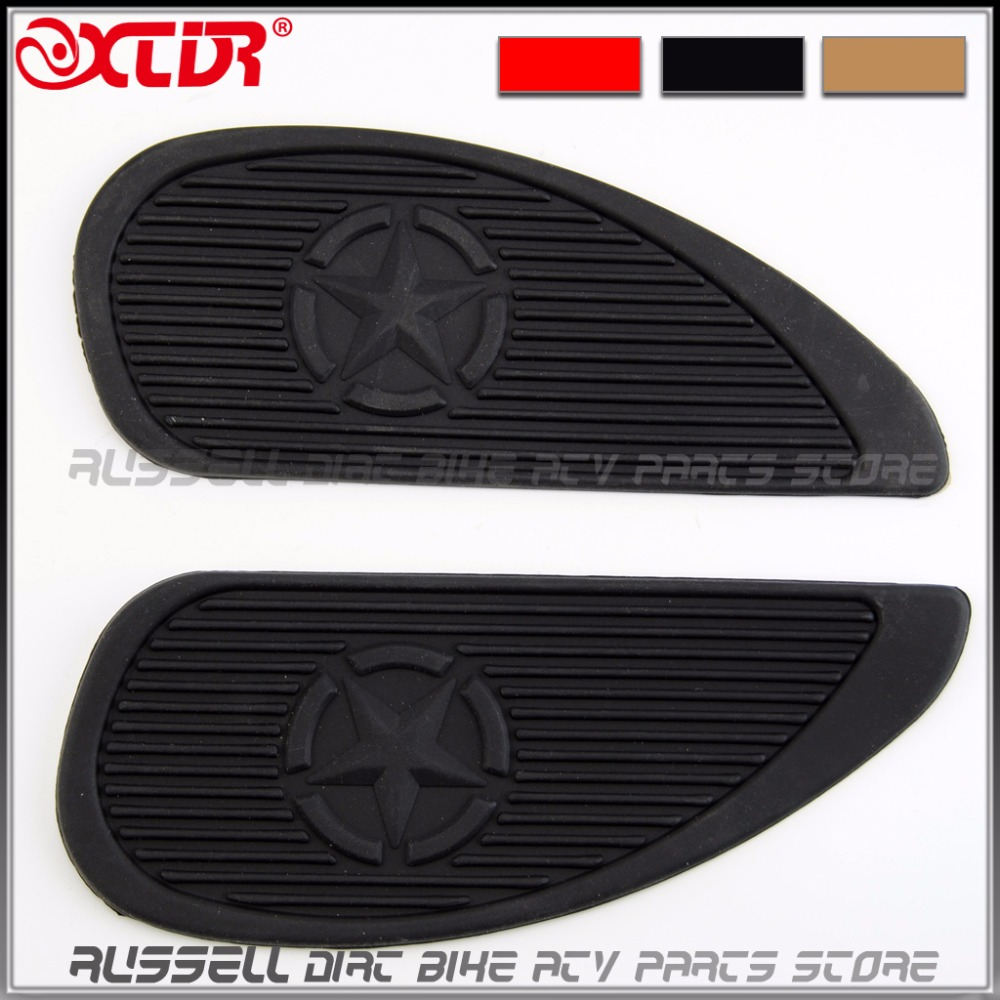 Retro motorcycle cafe racer gas fuel tank rubber stickers pad protector sheath 3m side for honda m3 cfmoto cf125 parts