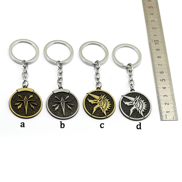 US $2 0 23% OFF New Monster Hunter W Online Game Keychain MHW World Guild  Zinogre Key Chain Ring For Men Car Women Bag Chaveiro Jewelry-in Key Chains