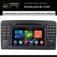 Android 6.0 Car DVD Player cho Mercedes-Benz ML CLASS W164 (2005-2012) ML300 ML320 ML350 ML450 ML500 ML63 Với Đài Phát Thanh GPS