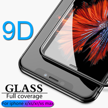 9D Full coverage protective glass for iPhone X XR XS max glass iphone XS max X XR screen protector iPhone XS max XR X glass flim