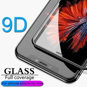 Image 1 - 9D полное покрытие Защитное стекло для iPhone X XR XS max стекло iphone XS max X XR защита экрана iPhone XS max XR X стекло flim