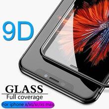 Xs max x xr x vidro flim 9d cobertura completa proteção de vidro para iphone x xr xs max vidro