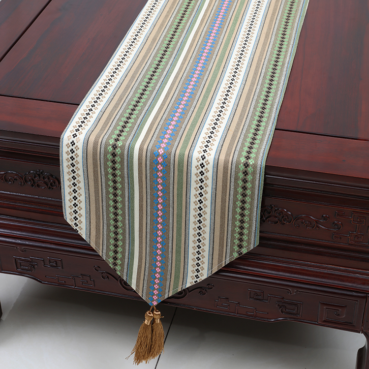 Aliexpress.com : Buy New Classic Stripe Length Table Runner Velvet Fabric  Modern Simple Coffee Table Cloth Europe Style Dining Table Mats Protective  From ...