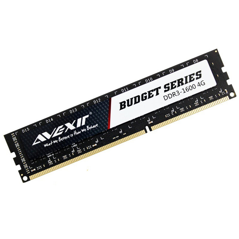 AVEXIR RAM DDR3 4GB / DDR3 8GB Memory Frequency 1600MHz 1.5V Desktop memory Interface Type 240pin 11-11-11-28 CL=11 Single RAMs 1