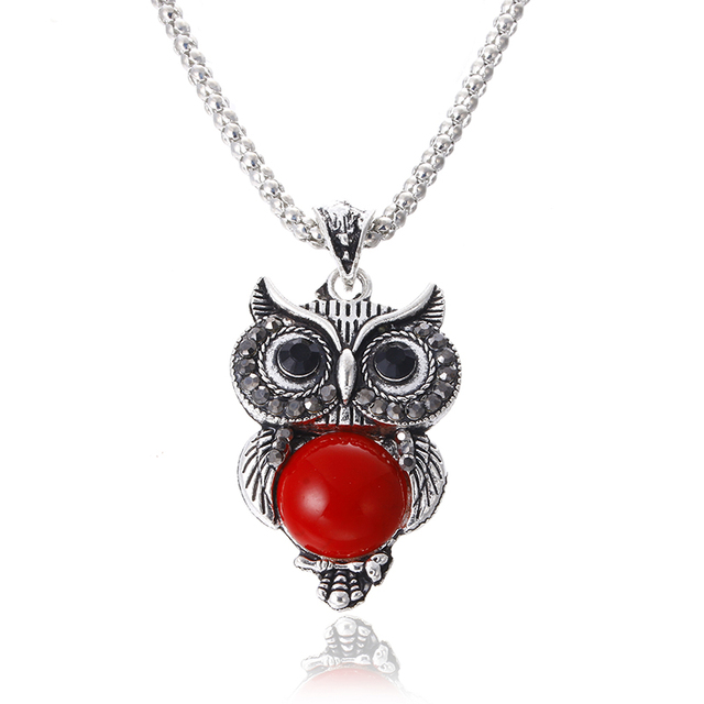 Silver Plated Vintage Owl set 5