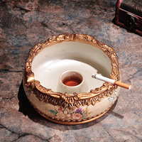 European large ashtray Home Furnishing decorative box office decoration man with a cigarette ashtray groove