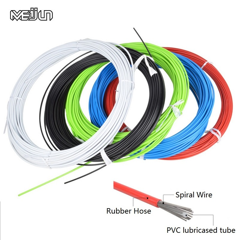 5 meter Bicycle Brake Shifting Cable Durable Mountain Road Bike Front Rear V Brake Derailleur Line Cycling Bike Brake Cable Wire high quality aluminium alloy tube v brake noodles cable guide pipe plastic boots bicycle cycling protect the brake line 113mm