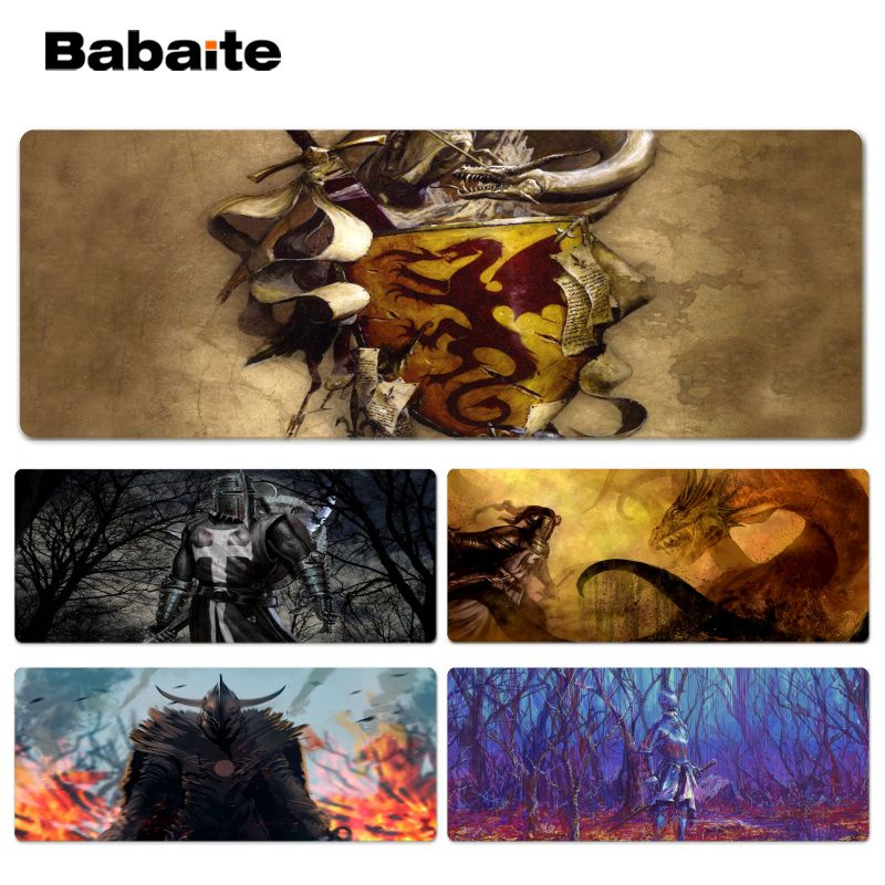 Babaite Personalized Cool Fashion Knight Beautiful Anime Lockedge Mouse Mat Size for 300*900*2mm and 400*900*2mm Mouse Pad