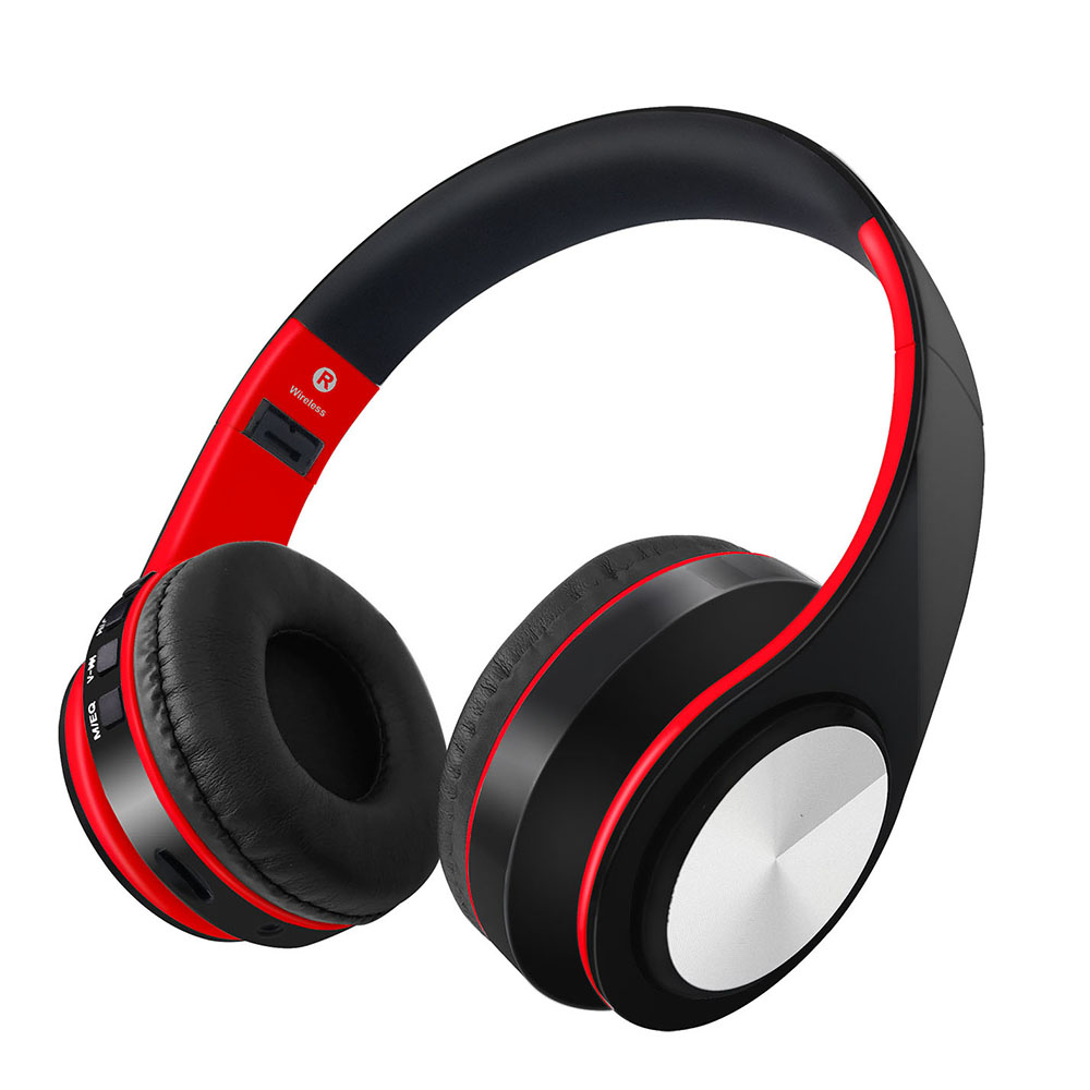 Wireless Headphones Bluetooth Stereo Music Headsets TF Card MP3 Player FM Radio 3.5mm Wired Earphone with Microphone