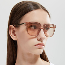 Luxury Sunglasses Women Oversized Gradient Men Vintage Flat top Eyewear Transparent UV400 oculos shining Stars
