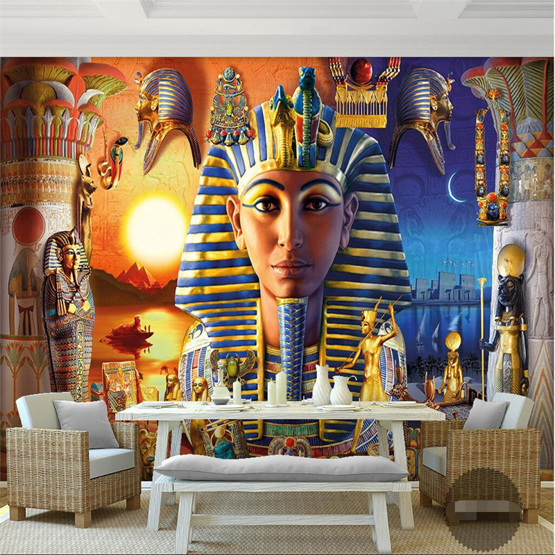 Buy wall paper 3d mural decor picture for Egyptian mural wallpaper