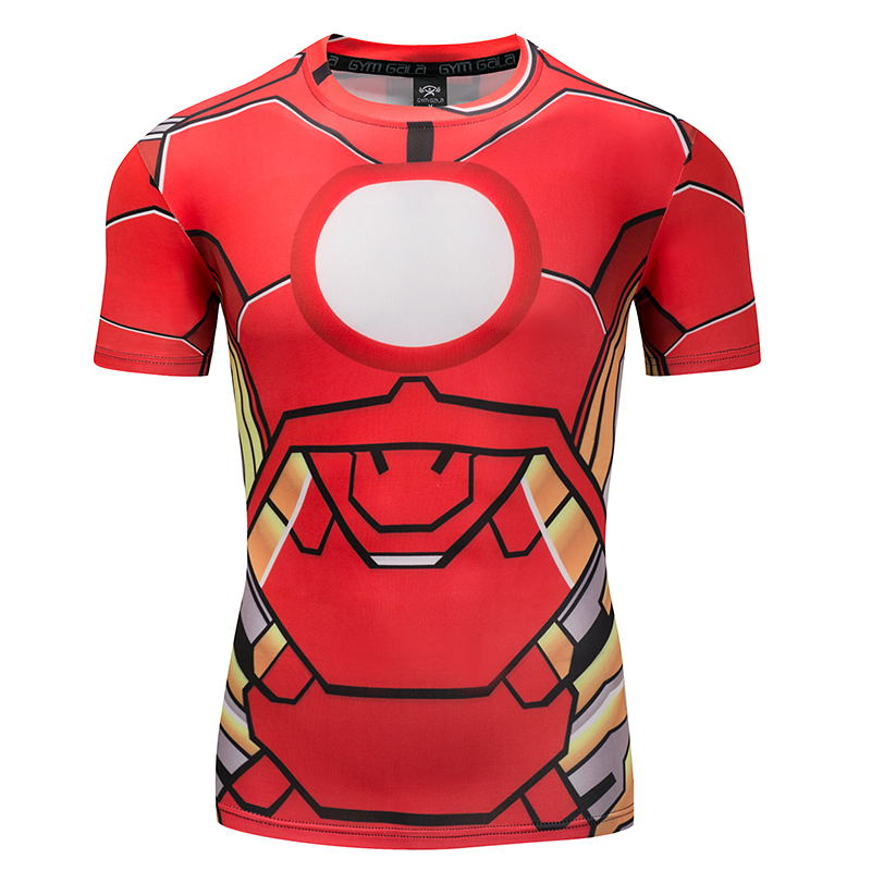 3D Printed T Shirt Compression Captain America Civil War Tee T-shirts Men Marvel Ironman Short Sleeve Fitness Clothing Male