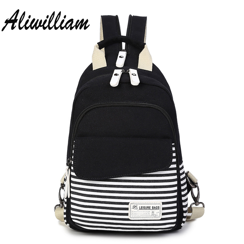 Mini Canvas Women Backpack College Student Backpack Small School Bag Summer Travel Backpacks Bags For Teenagers