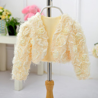 Top Quality Little Girls Spring Summer Coats Cotton Silk Fashion Flower Blouse For Wedding Party Warm
