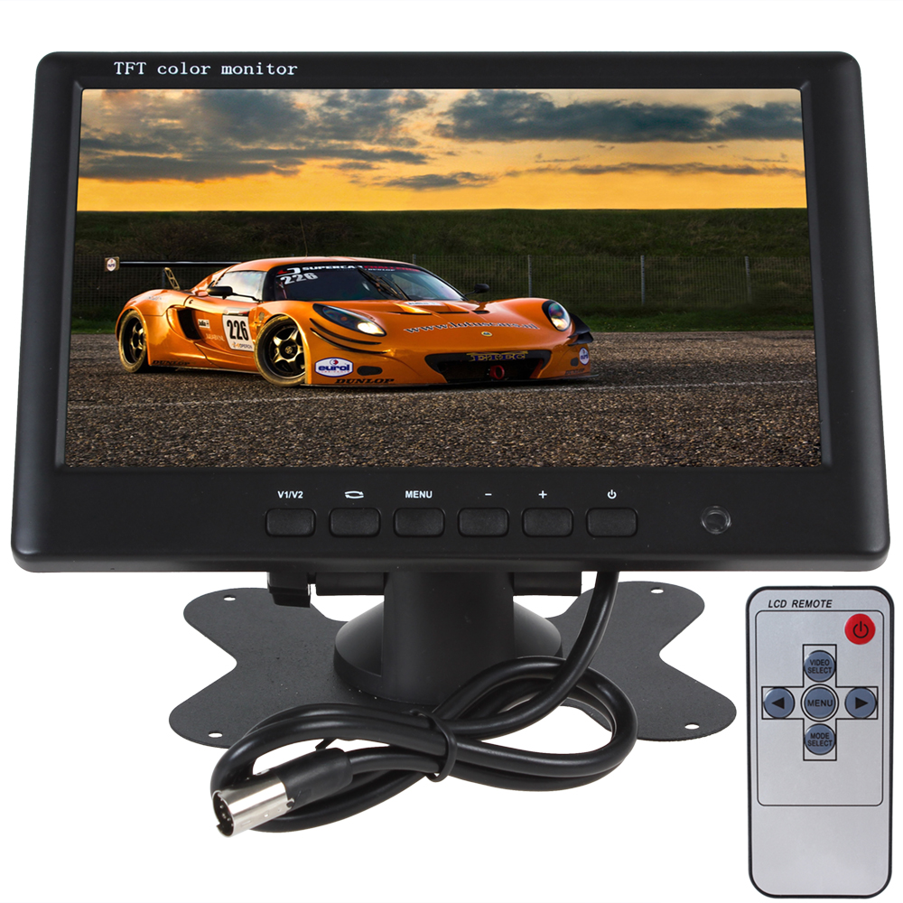 HD 800 x 480 Super Thin 7 Inch Color TFT LCD 2 Channels Video Input Car Rear View Monitor High Quality