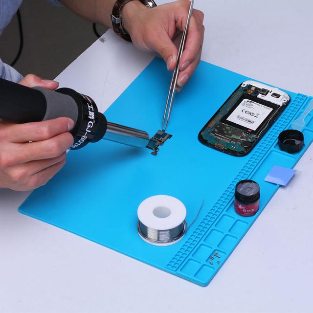 Insulation Pad Repair Tools Maintenance Platform Desk Mat Heat-resistant Soldering Mat Silicone Heat Gun BGA Soldering Station