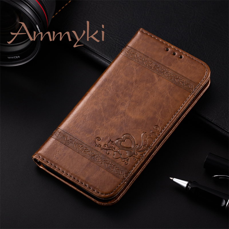 AMMYKI 5.45'For Huawei Honor 7A case Flower flowers flip pu leather back cover 5.45'For Huawei Honor 7A 7 A DUA-L22 Russian case