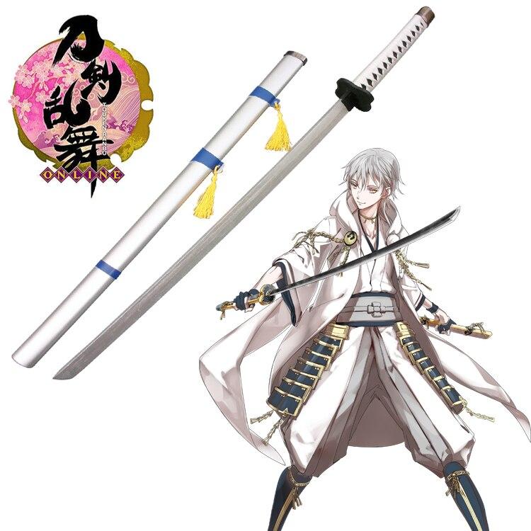 Free Shipping Touken Ranbu Online Tsurumarukuninaga Wooden Sword Game Cosplay Weapons