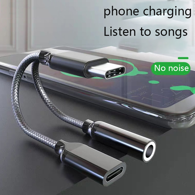 Adapter-Connector Type-C Huawei P20 Xiaomi Earphone Audio-Cable Usb-C Fast-Charging AUX
