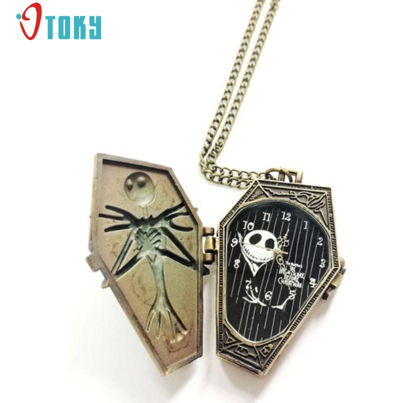 Excellent Quality 2017 New Arrival Nightmare Before Christmas Pocket Watches For Gift Jan-05 deadpool fullmental alice in wonderland nightmare before christmas captain america superman batman loki pocket watch