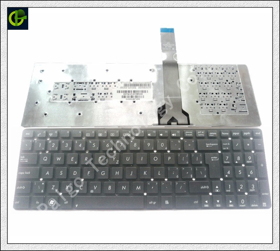Czech <font><b>Keyboard</b></font> for <font><b>ASUS</b></font> K55 K55A K55N K55V <font><b>K55VJ</b></font> K55VM K55VD <font><b>K55VJ</b></font> K55VS K55XI K55DE K55DR A55 A55V CZ fit Slovakia SK laptop image