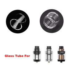 Original Replacement Glass Tube for OBS Engine 2 RTA Tank Dual Coils RTA 26mm with 360 Degree цена