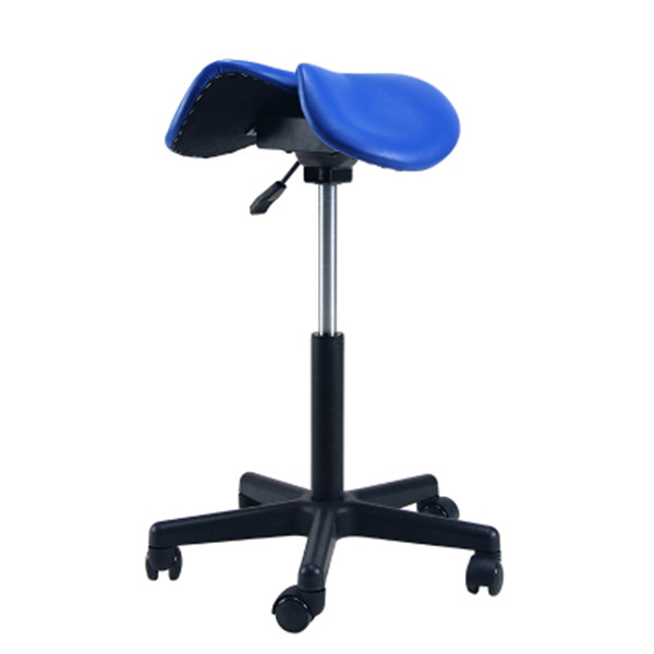 Купить с кэшбэком Comfortable Adjustable Saddle Stool Seat Furniture Ergonomic Medical Office Saddle Chair Rolling Swivel Chair for Home or Dental