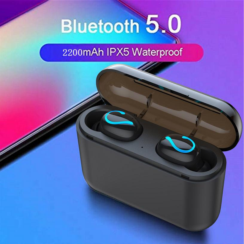Bluetooth 5.0 Headset TWS Wireless Earphones Mini Earbuds Stereo Earphones For Sports With Charge Box