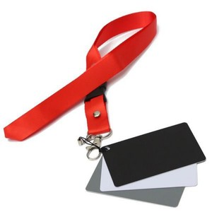 3 Color Portable Balance Cards 18% Exposure Photography Cards Calibration Camera Checker with Neck Strap