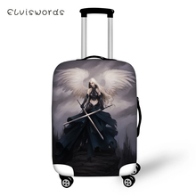 ELVISWORDS Protective Suitcase Cover Dark Gothic Angel Pattern Elastic Dust-proof Luggage Waterproof Accessories