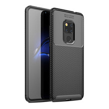For Huawei Mate 20 Pro Case Carbon Fiber Silicone Phone Bag X Shockproof Cover Lite