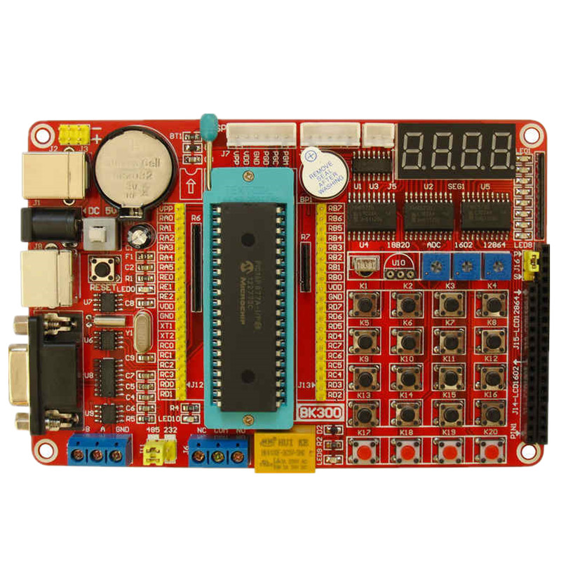 PIC development board MCU learning board PIC16F877A development board experimental board pic microcontroller development board the experimental board pic18f4520 including pickit2 programmers excluding books